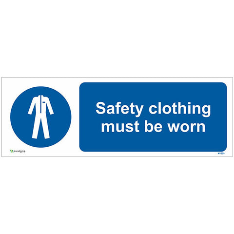 Safety Clothing Must Be Worn Sign - Safety Signs & Stickers | Borehamwood Signs