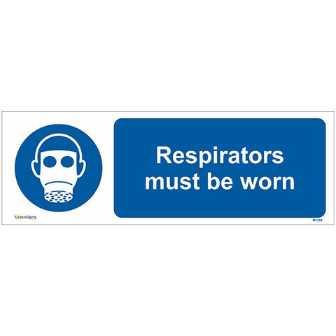 Respirators Must Be Worn Sign - Safety Signs & Stickers | Borehamwood Signs