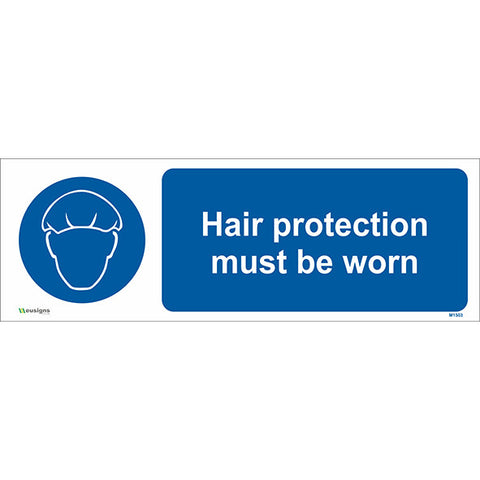 Hair Protection Must be Worn Sign - Safety Signs & Stickers | Borehamwood Signs