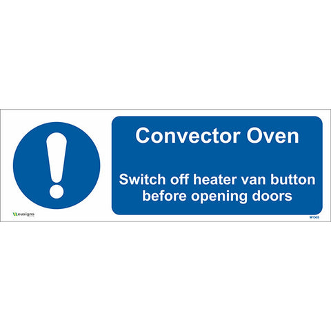 Convector Oven Sign - Safety Signs & Stickers | Borehamwood Signs