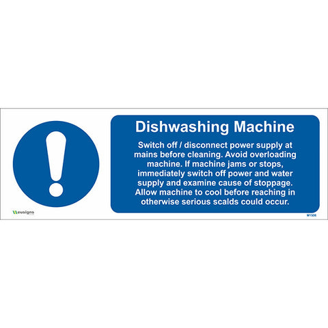 Dishwashing Machine Sign - Safety Signs & Stickers | Borehamwood Signs