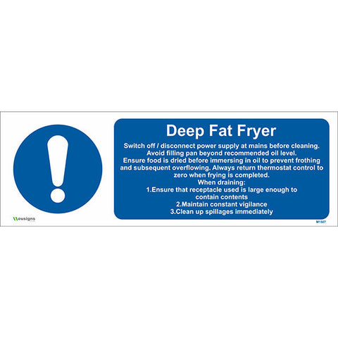 Deep Fat Fryer Sign - Safety Signs & Stickers | Borehamwood Signs