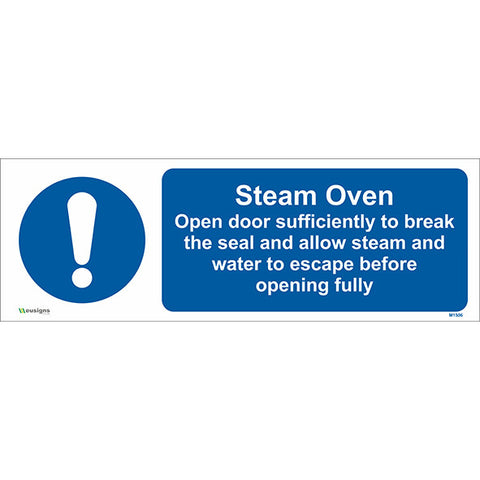 Steam Oven Sign - Safety Signs & Stickers | Borehamwood Signs