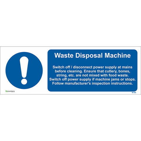 Waste Disposal Machine Sign - Safety Signs & Stickers | Borehamwood Signs