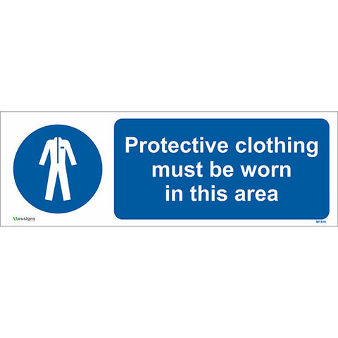 Protective Clothing Must Be Worn in This Area Sign - Safety Signs & Stickers | Borehamwood Signs
