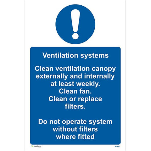 Ventilation Systems Sign - Safety Signs & Stickers | Borehamwood Signs