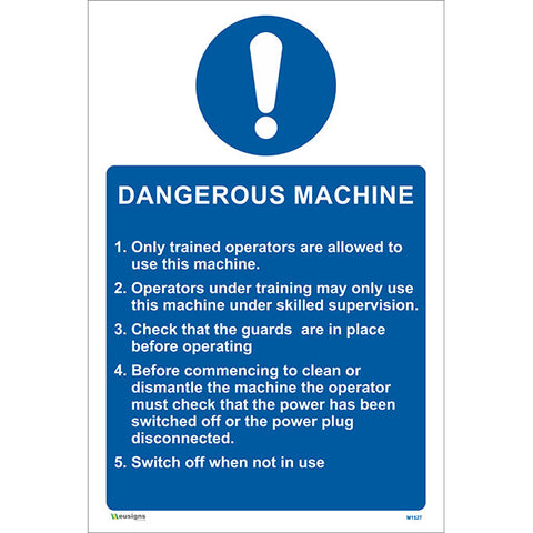 Dangerous Machine Sign - Safety Signs & Stickers | Borehamwood Signs