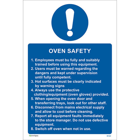 Oven Safety Sign - Safety Signs & Stickers | Borehamwood Signs