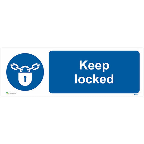 Keep Locked Sign - Safety Signs & Stickers | Borehamwood Signs
