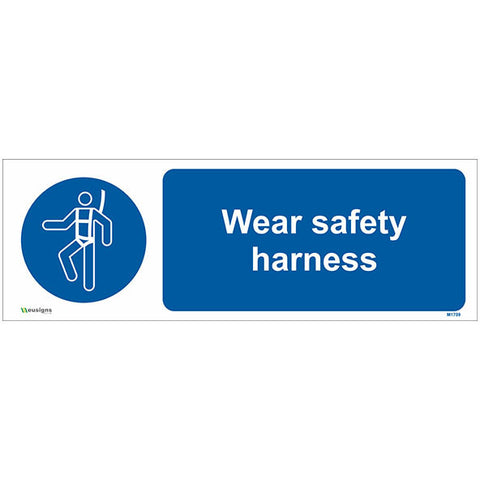 Wear Safety Harness Sign - Safety Signs & Stickers | Borehamwood Signs
