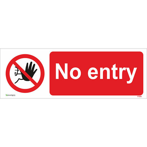 No Entry Sign - Safety Signs & Stickers | Borehamwood Signs