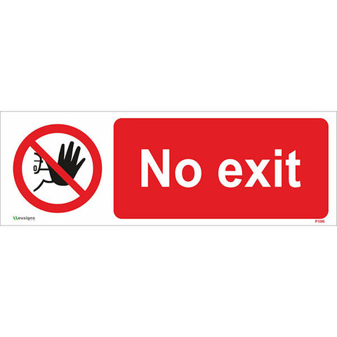No Exit Sign - Safety Signs & Stickers | Borehamwood Signs