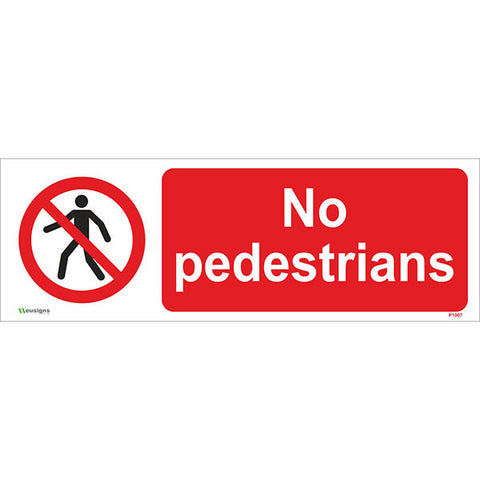 No Pedestrians Sign - Safety Signs & Stickers | Borehamwood Signs