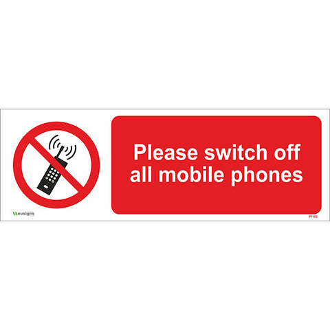 Please Switch Off All Mobile Phones Sign - Safety Signs & Stickers | Borehamwood Signs