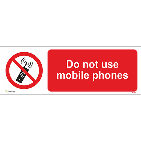 Do Not Use Mobile Phones Sign - Safety Signs & Stickers | Borehamwood Signs