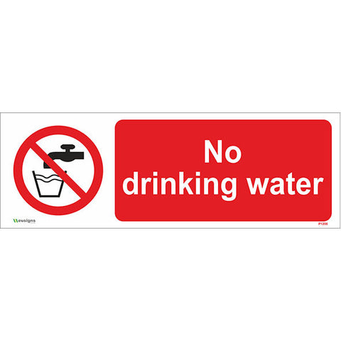 No Drinking Water Sign - Safety Signs & Stickers | Borehamwood Signs