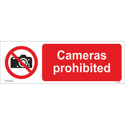 Cameras Prohibited Sign - Safety Signs & Stickers | Borehamwood Signs