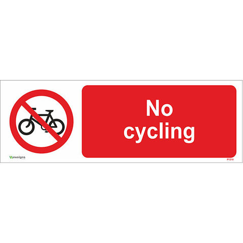 No Cycling Sign - Safety Signs & Stickers | Borehamwood Signs