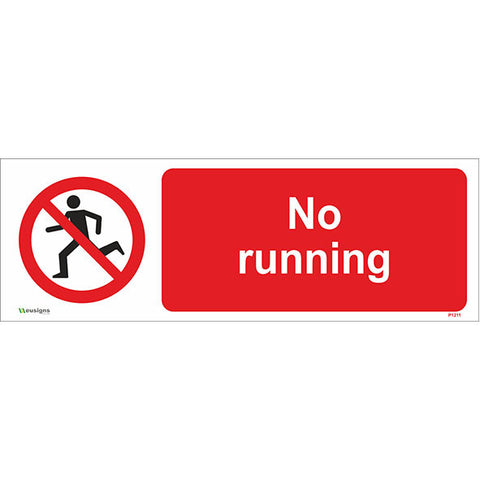 No Running Sign - Safety Signs & Stickers | Borehamwood Signs