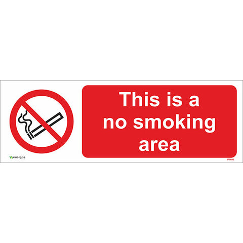 This Is A No Smoking Area Sign - Safety Signs & Stickers | Borehamwood Signs