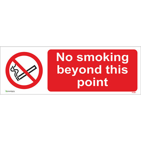 No Smoking Beyond This Point Sign - Safety Signs & Stickers | Borehamwood Signs