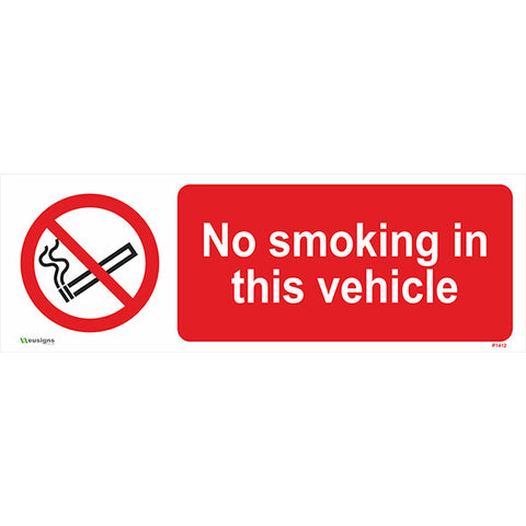 No Smoking In This Vehicle Sign - Safety Signs & Stickers | Borehamwood Signs