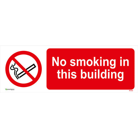 No Smoking In This Building Sign - Safety Signs & Stickers | Borehamwood Signs