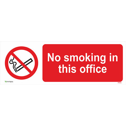 No Smoking In This Office Sign - Safety Signs & Stickers | Borehamwood Signs