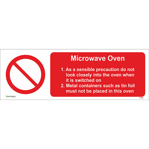 Microwave Oven Sign - Safety Signs & Stickers | Borehamwood Signs