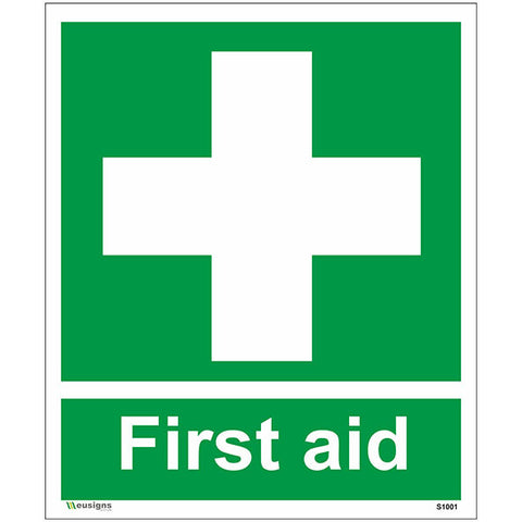 First Aid Sign - Safety Signs & Stickers | Borehamwood Signs