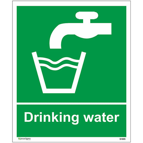 Drinking Water Sign - Health and Safety Signs