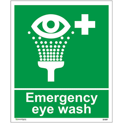 Emergency Eye Wash Sign - Safety Signs & Stickers | Borehamwood Signs