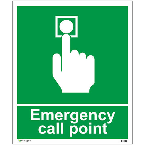 Emergency Call Point Sign - Safety Signs & Stickers | Borehamwood Signs