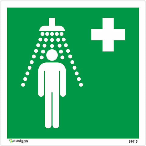 Emergency Shower Sign - Safety Signs & Stickers | Borehamwood Signs