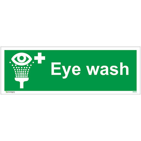 Eye Wash Sign - Safety Signs & Stickers | Borehamwood Signs