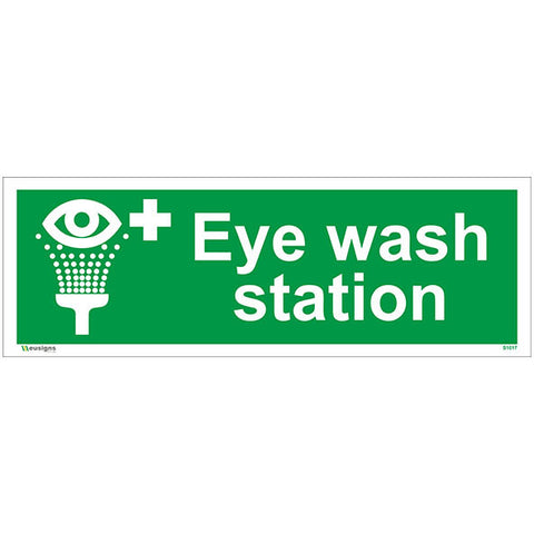 Eye Wash Station Sign - Safety Signs & Stickers | Borehamwood Signs
