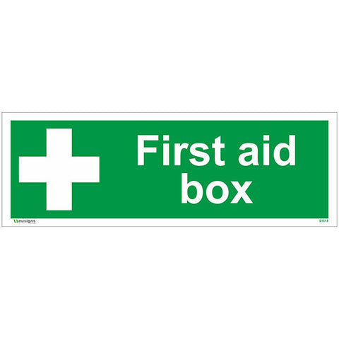 First Aid Box Sign - Safety Signs & Stickers | Borehamwood Signs