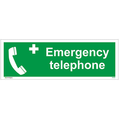 Emergency Telephone Sign - Safety Signs & Stickers | Borehamwood Signs