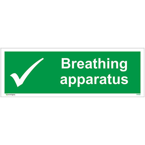 Breathing Apparatus Sign - Safety Signs & Stickers | Borehamwood Signs