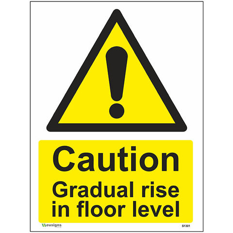 Caution Gradual Rise In Floor Level Sign - Safety Signs & Stickers | Borehamwood Signs