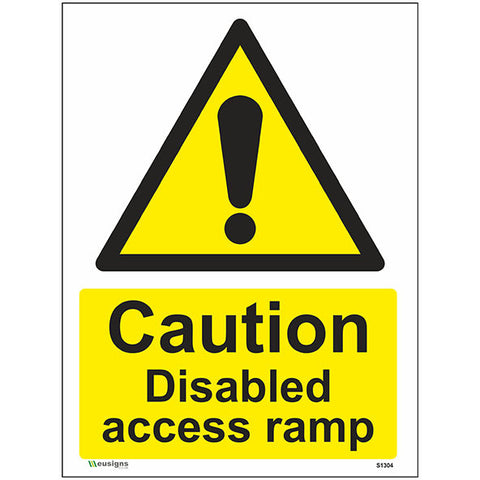 Caution Disabled Access Ramp Sign - Safety Signs & Stickers | Borehamwood Signs