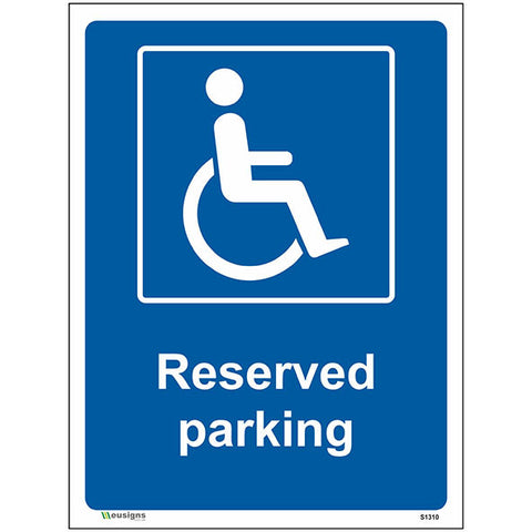 Reserved Parking Sign - Safety Signs & Stickers | Borehamwood Signs