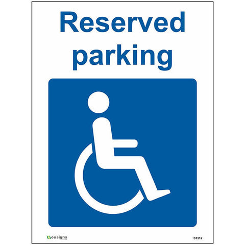 Reserved Parking Sign - Heath and Safety Signs, Warning Signs, Emergency Signs, Fire Exit,Stop Signs, Borehamwood Signs