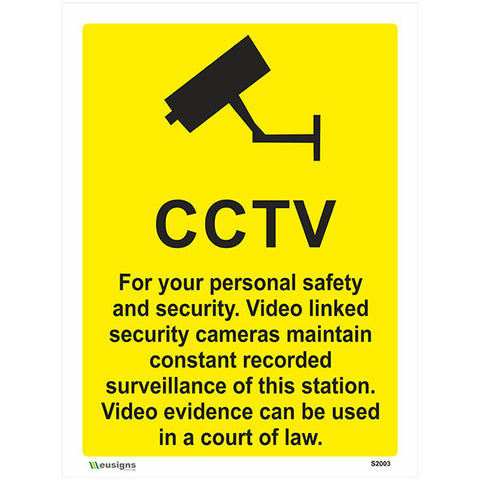 CCTV Sign - Safety Signs & Stickers | Borehamwood Signs