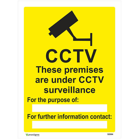 These Premises Are Under CCTV Surveillance Sign - Safety Signs & Stickers | Borehamwood Signs