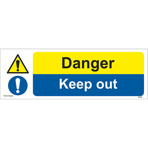 Danger Keep Out Sign - Heath and Safety Signs|Warning Signs|Emergency Signs|Fire Exit|Hazard Signs|Safety|Stickers|Borehamwood Signs