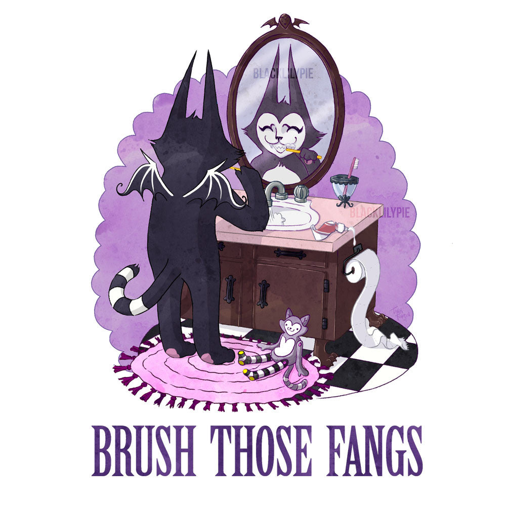 Brush Those Fangs - Print on matte paper