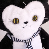 Trouble Cat Plush Toy with ribbon and eyeshadow