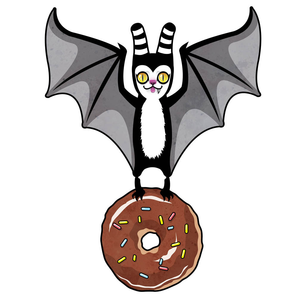 Bat and Donut - Print on matte paper