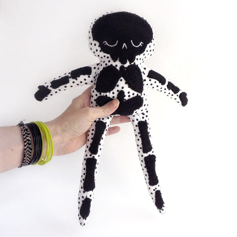 Stuffy Skeleton -sleeping skeleton fabric rag doll